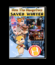 How the Hampsters Saved Winter DVD designed by Asbury Arts
